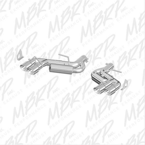 "Camaro SS/ZL1 3"" Dual Axle-Back W/ 4.5"" Quad Dual Wall Tips - MBRP"