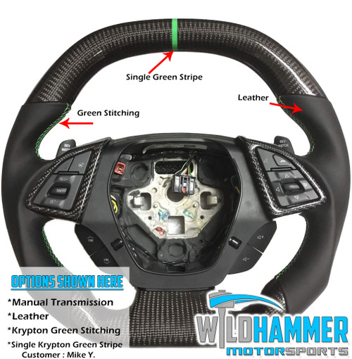 Make-Your-Own Camaro Carbon Fiber Steering Wheel - Wildhammer