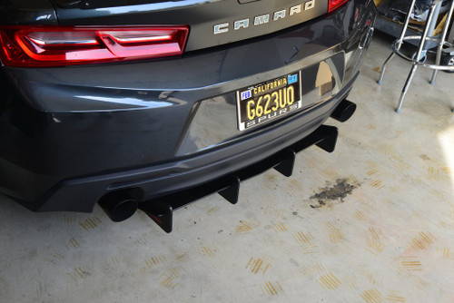 Camaro LS/LT/SS Dual Tip Rear Diffuser - ZL1 Addons