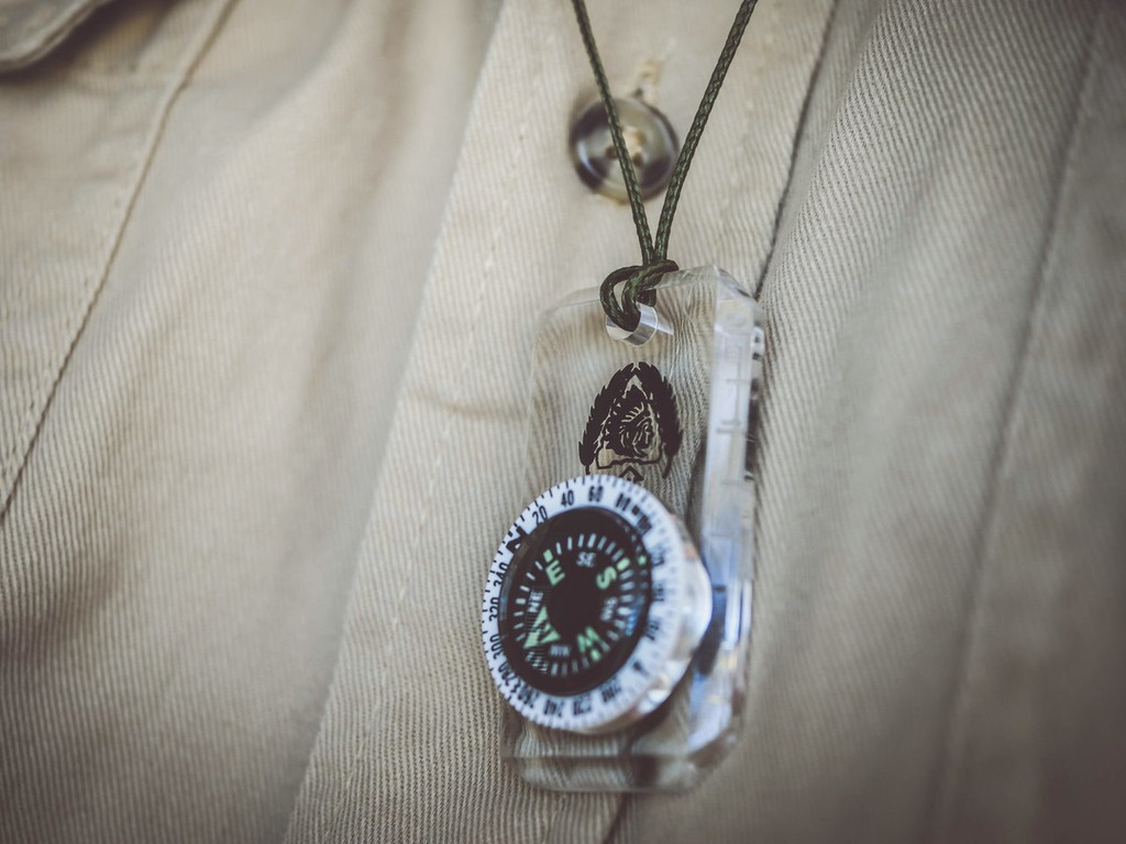 BLACK SCOUT MINI-BASEPLATE COMPASS