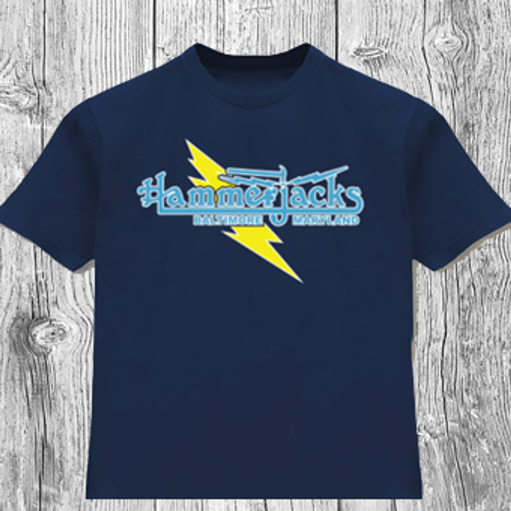 "Classic Hammerjacks ""Lightning Bolt"" T-Shirt in Navy"