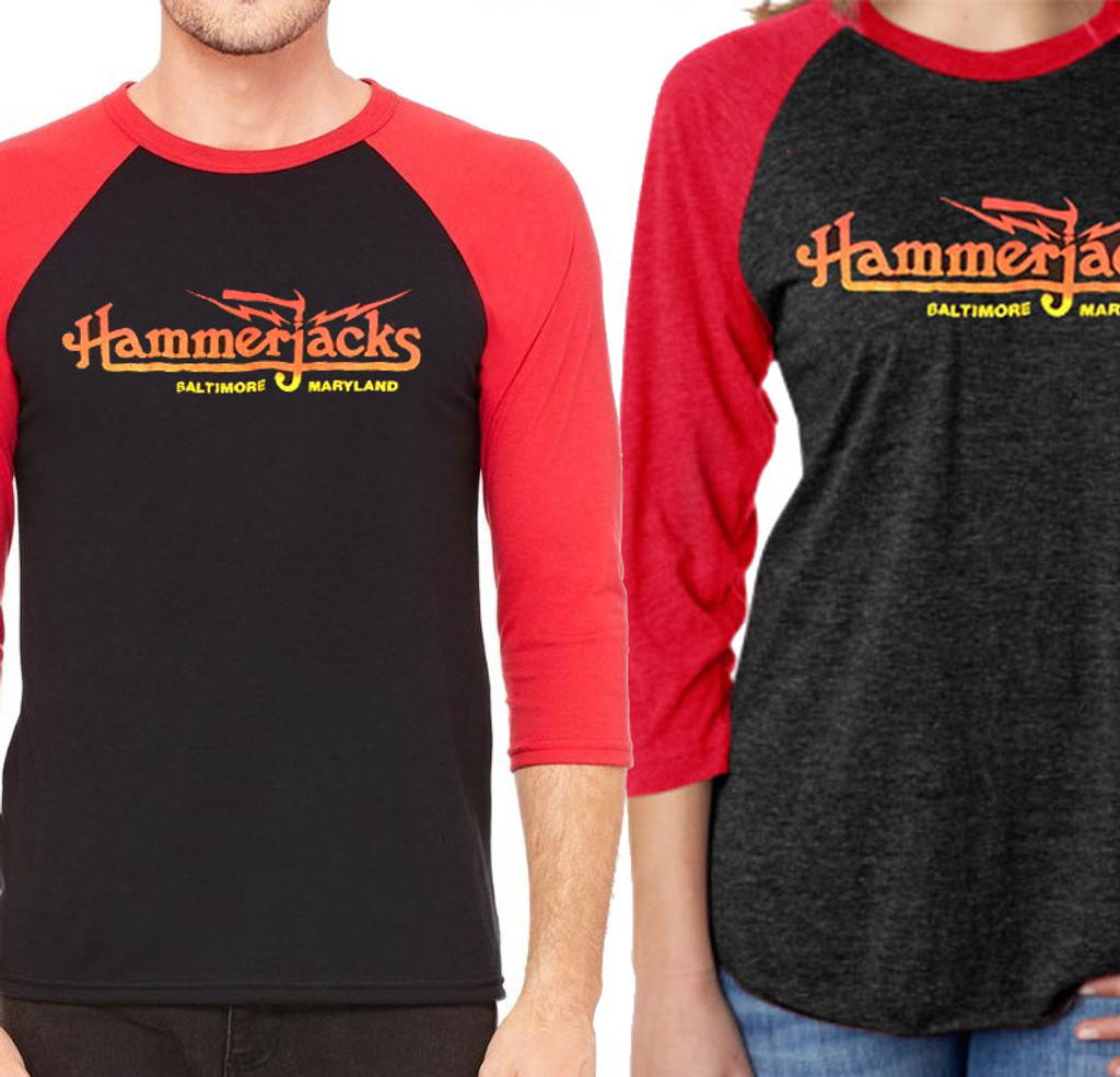 80's 3/4 Sleeve Hammerjacks T-Shirt  with the Year 77 On Back
