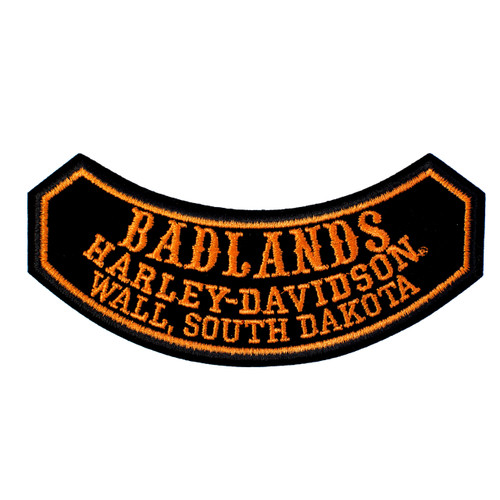Badlands Harley Davidson® Stamp Font Rocker Emblem