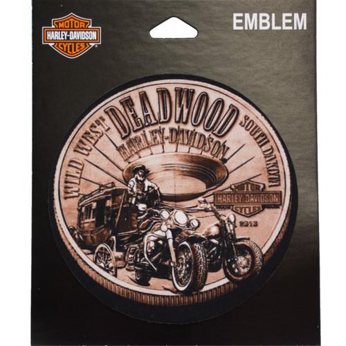 Deadwood Harley-Davidson® Bronze Coin Emblem Patch