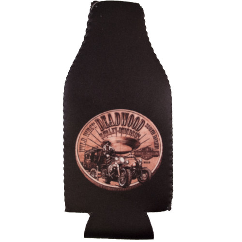 Deadwood Harley-Davidson®  Bronze Coin Zip Bottle Coozie