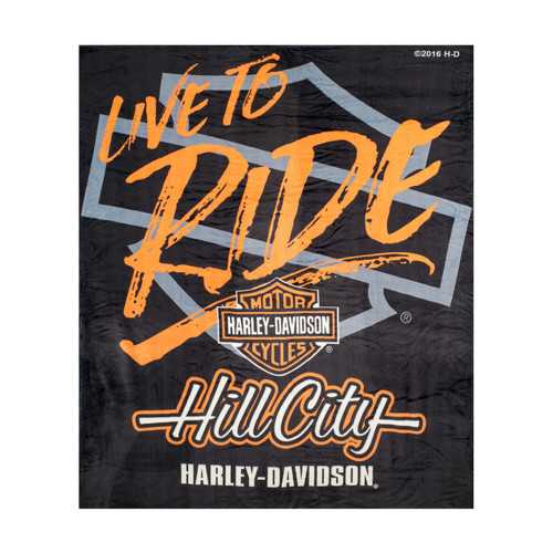 """Hill City Harley-Davidson® """"Live to Ride"""" Silk Touch Throw Blanket"""