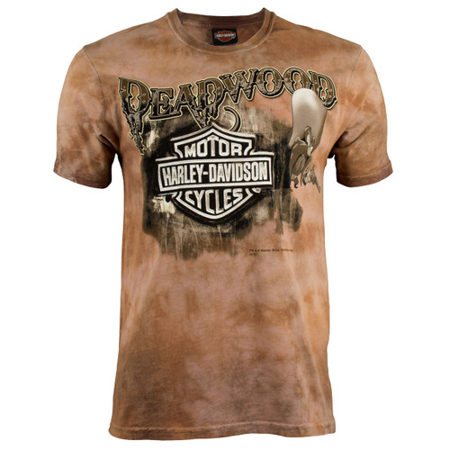 Deadwood Harley-Davidson® Men's Deadwood Sam Cappuccino Dye Short Sleeve T-Shirt (A)