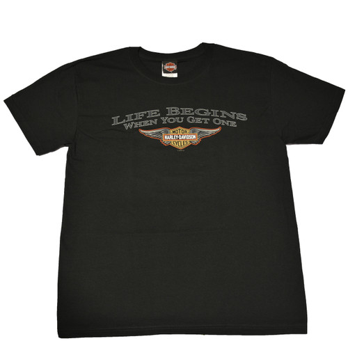 Sturgis Harley-Davidson® Men's Begin Wing Black Short Sleeve T-Shirt
