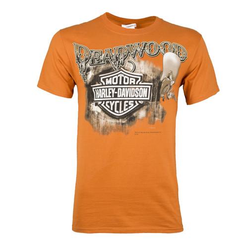 Deadwood Harley-Davidson® Men's Deadwood Sam Texas Orange Short Sleeve T-Shirt