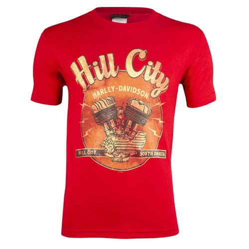 Hill City Harley-Davidson® Men's Vintage Cardinal Short Sleeve T-Shirt