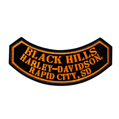Black Hills Harley-Davidson® Small Rocker Emblem Patch