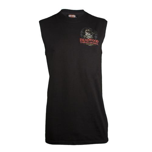 Deadwood Harley-Davidson® Men's Dead Eye Jack Black Sleeveless Shirt
