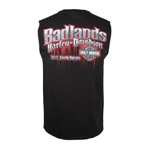Badlands Harley-Davidson® Men's Edge Black Sleeveless Shirt