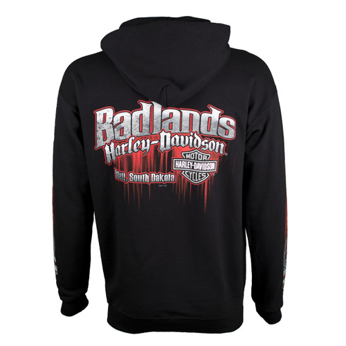 Badlands Harley-Davidson® Men's Edge Black Pullover Hoodie