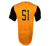 Abejas Authentic Jersey - NoveltyCollectiblesMemorabilia - Salt Lake Bees - 51 - Gold -