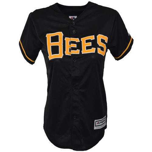 Cool Base Alternate Jersey  - WomensApparelJerseys - Salt Lake Bees - - Black - Majestic