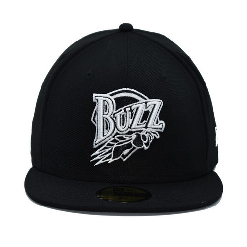 Fitted White On Black Core 5950  - HeadwearFittedMens - Salt Lake Buzz - - Black - New Era