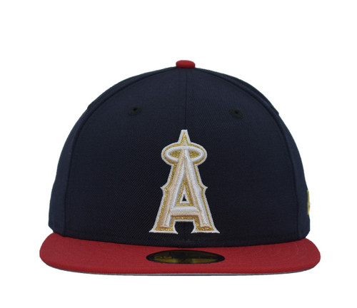 Stripes 5950  - HeadwearFittedMens - Los Angeles Angels - - Navy - New Era