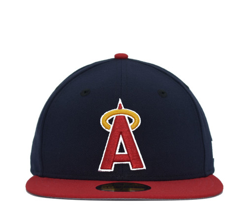 2T Coop Block A 5950  - HeadwearFittedMens - Los Angeles Angels - - Navy - New Era