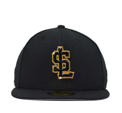 Design Lab Team Color Metal Logo 5950  - HeadwearFittedMens - Salt Lake Bees - - Black - New Era