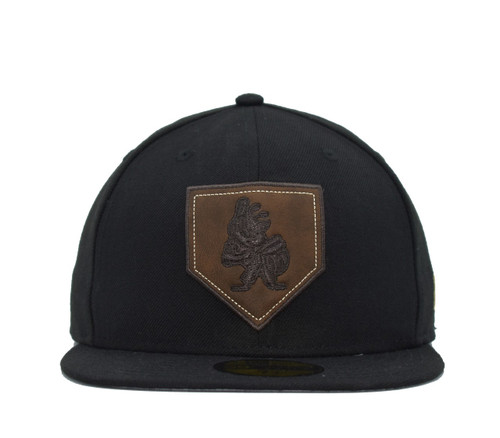 Design Lab Leather Home Plate 5950  - HeadwearFittedMens - Salt Lake Bees - - Black - New Era