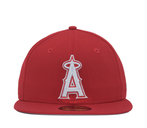 Red White 5950  - HeadwearFittedMens - Los Angeles Angels - - Red - New Era