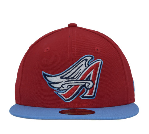 Wings 2T 5950  - HeadwearFittedMens - Los Angeles Angels - - Red - New Era