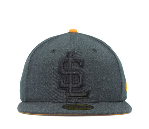 Jumbo Heather Fitted 5950  - HeadwearFittedMens - Salt Lake Bees - - Black - New Era