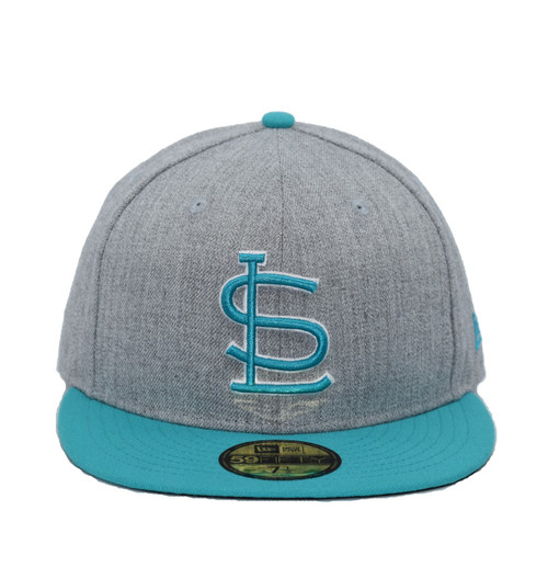 Fitted 2 Tone Heather Team Color Core 5950  - HeadwearFittedMens - Salt Lake Gulls - - Gray - New Era