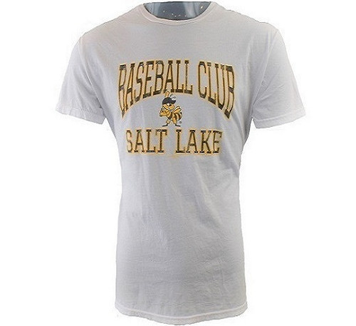 18 Baseball Club Vintage Tee  - MensApparelTees - Salt Lake Bees - - White - Retro Brand