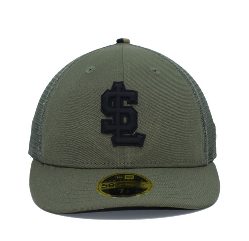 Design Lab Mesh Back Rubber Logo LP5950  - HeadwearFittedMens - Salt Lake Bees - - Green - New Era