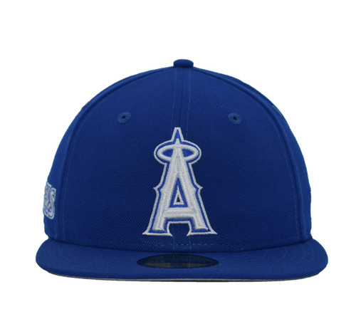Royal White 5950  - HeadwearFittedMens - Los Angeles Angels - - Royal - New Era