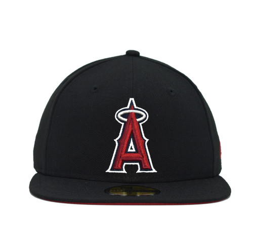 Black Pop Under 5950  - HeadwearFittedMens - Los Angeles Angels - - Black - New Era
