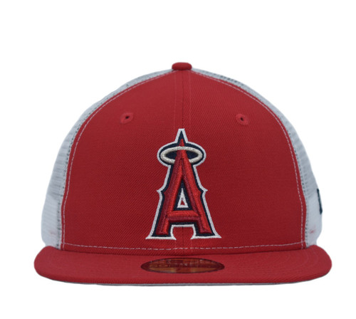 Meshback 5950  - HeadwearFittedMens - Los Angeles Angels - - Red - New Era