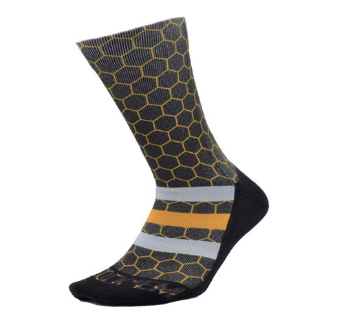 Yth Honeycomb Fashion Sock  - KidsApparelFootwearFashion - Salt Lake Bees - - Black - Rock 'Em