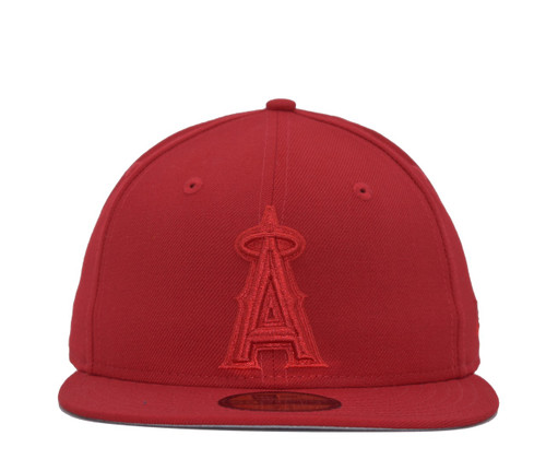 Red Tonal 5950  - HeadwearFittedMens - Los Angeles Angels - - Red - New Era