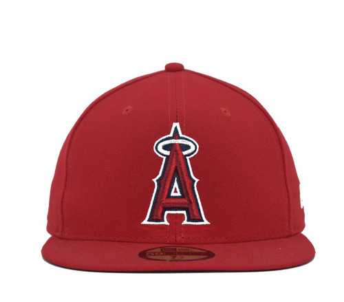 Authentic Collection Game 5950  - HeadwearFittedMens - Los Angeles Angels - - Red - New Era