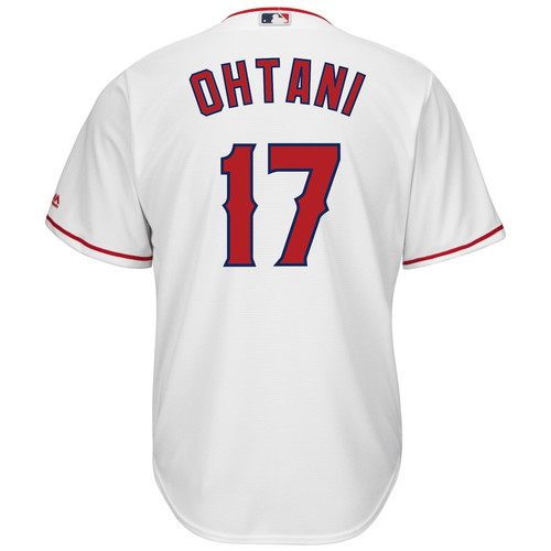 Home Coolbase Replica Jersey  - MensApparelJerseys - Los Angeles Angels - Ohtani Shohei - White - Majestic