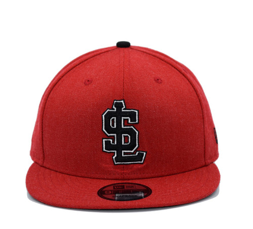 Heather Scarlet 950  - HeadwearAdjustableSnapbackMens - Salt Lake Bees - - Red - New Era