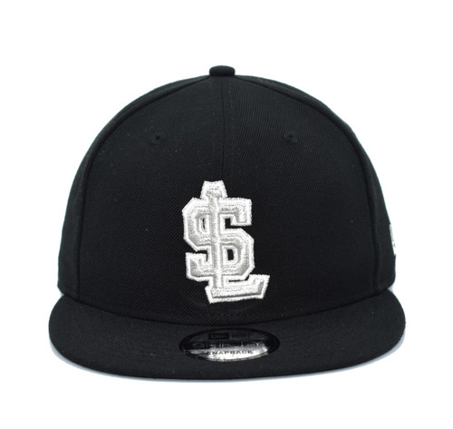Black Silver 950  - HeadwearAdjustableSnapbackMens - Salt Lake Bees - - Black - New Era