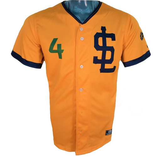 Jazz Bees Authentic Jersey - NoveltyCollectiblesMemorabilia - Salt Lake Bees - 4 - Gold -