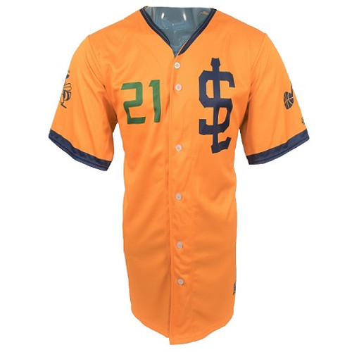 Jazz Bees Authentic Jersey - NoveltyCollectiblesMemorabilia - Salt Lake Bees - 21 - Gold -