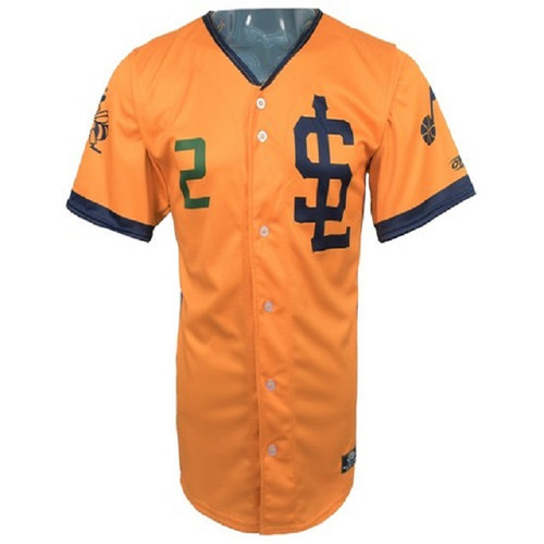 Jazz Bees Authentic Jersey - NoveltyCollectiblesMemorabilia - Salt Lake Bees - 2 - Gold -