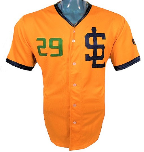 Jazz Bees Authentic Jersey - NoveltyCollectiblesMemorabilia - Salt Lake Bees - 29 - Gold -