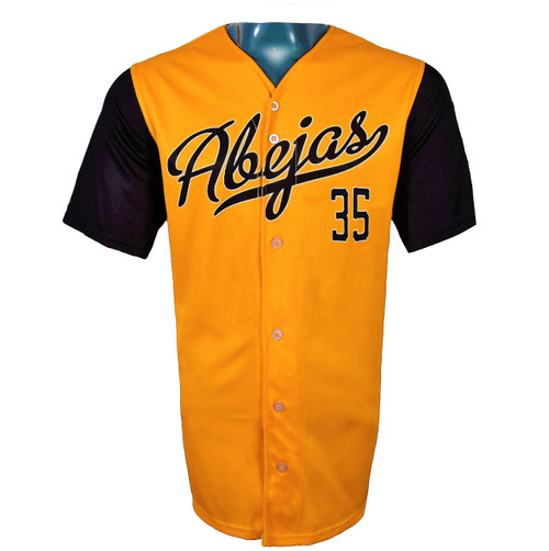 Abejas Authentic Jersey - NoveltyCollectiblesMemorabilia - Salt Lake Bees - 35 - Gold -