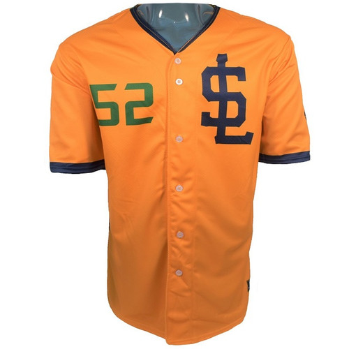 Jazz Bees Authentic Jersey - NoveltyCollectiblesMemorabilia - Salt Lake Bees - 52 - Gold -
