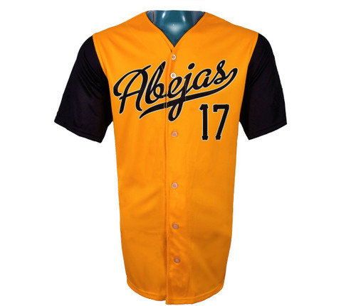 Abejas Authentic Jersey - NoveltyCollectiblesMemorabilia - Salt Lake Bees - 17 - Gold -
