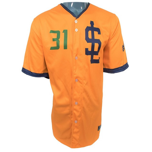 Jazz Bees Authentic Jersey - NoveltyCollectiblesMemorabilia - Salt Lake Bees - 31 - Gold -