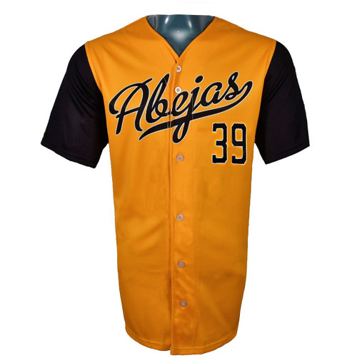 Abejas Authentic Jersey - NoveltyCollectiblesMemorabilia - Salt Lake Bees - 39 - Gold -
