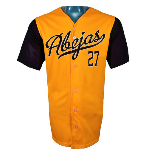 Abejas Authentic Jersey - NoveltyCollectiblesMemorabilia - Salt Lake Bees - 27 - Gold -